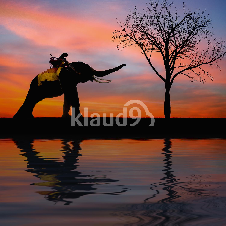 Sunset Thai countryside Thailand