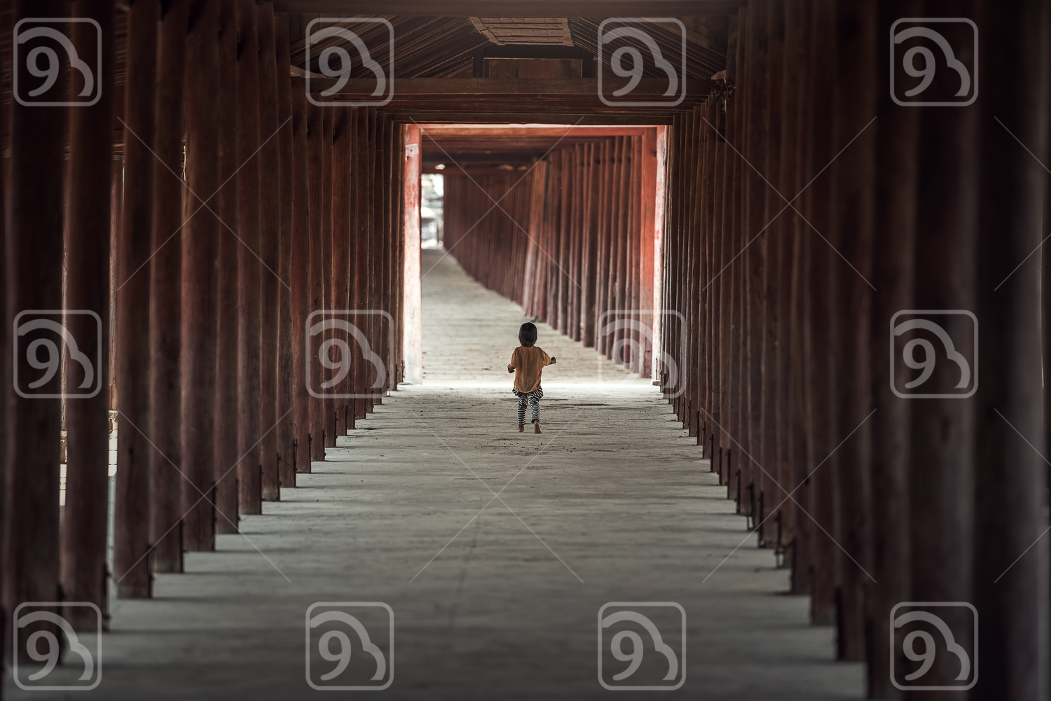 Kids walking alone