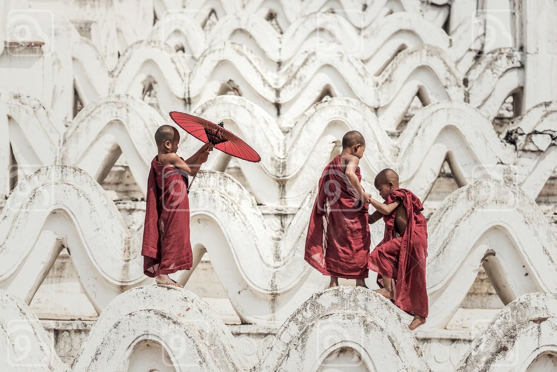 Buddhist novice in temple