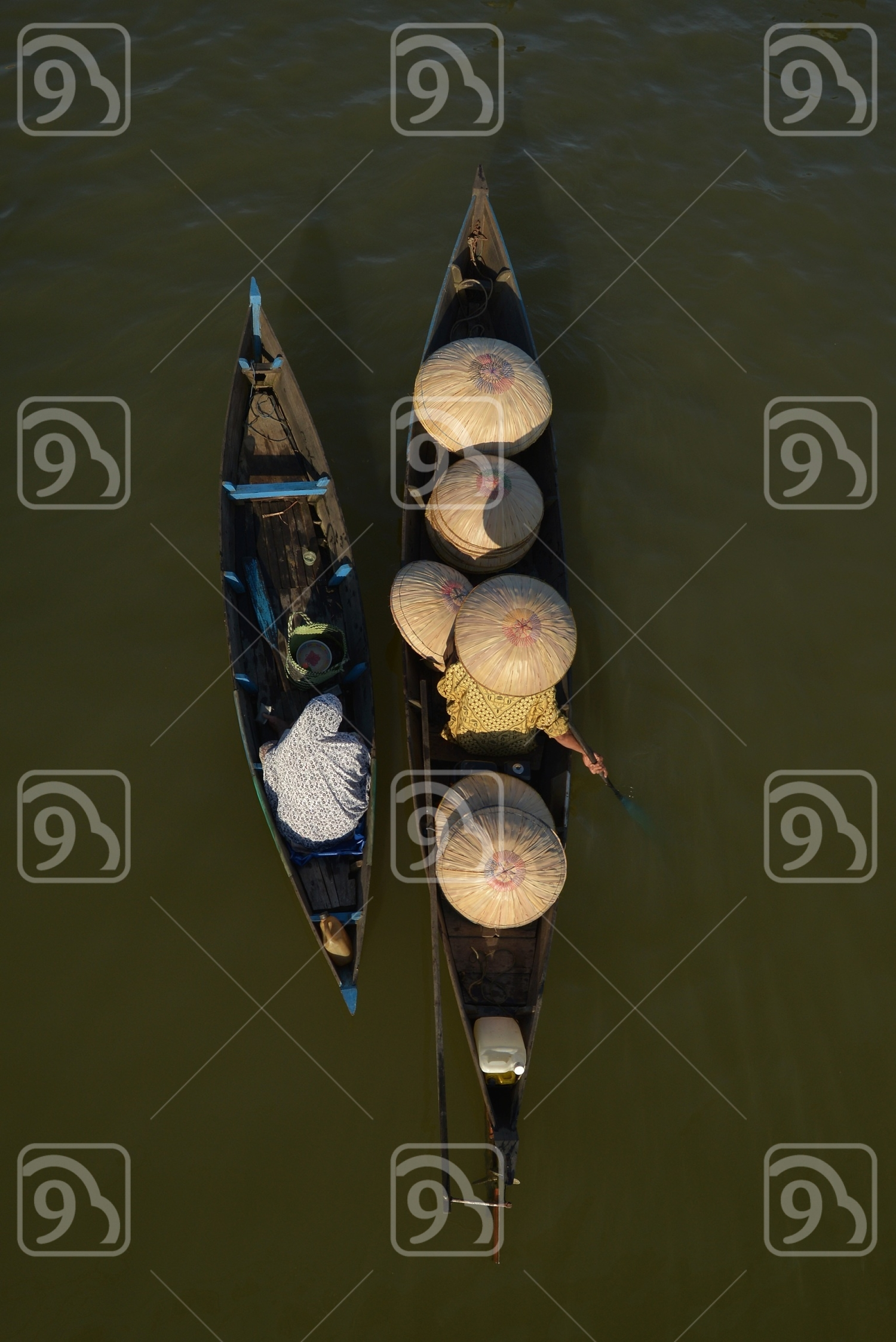 Seller on floating market