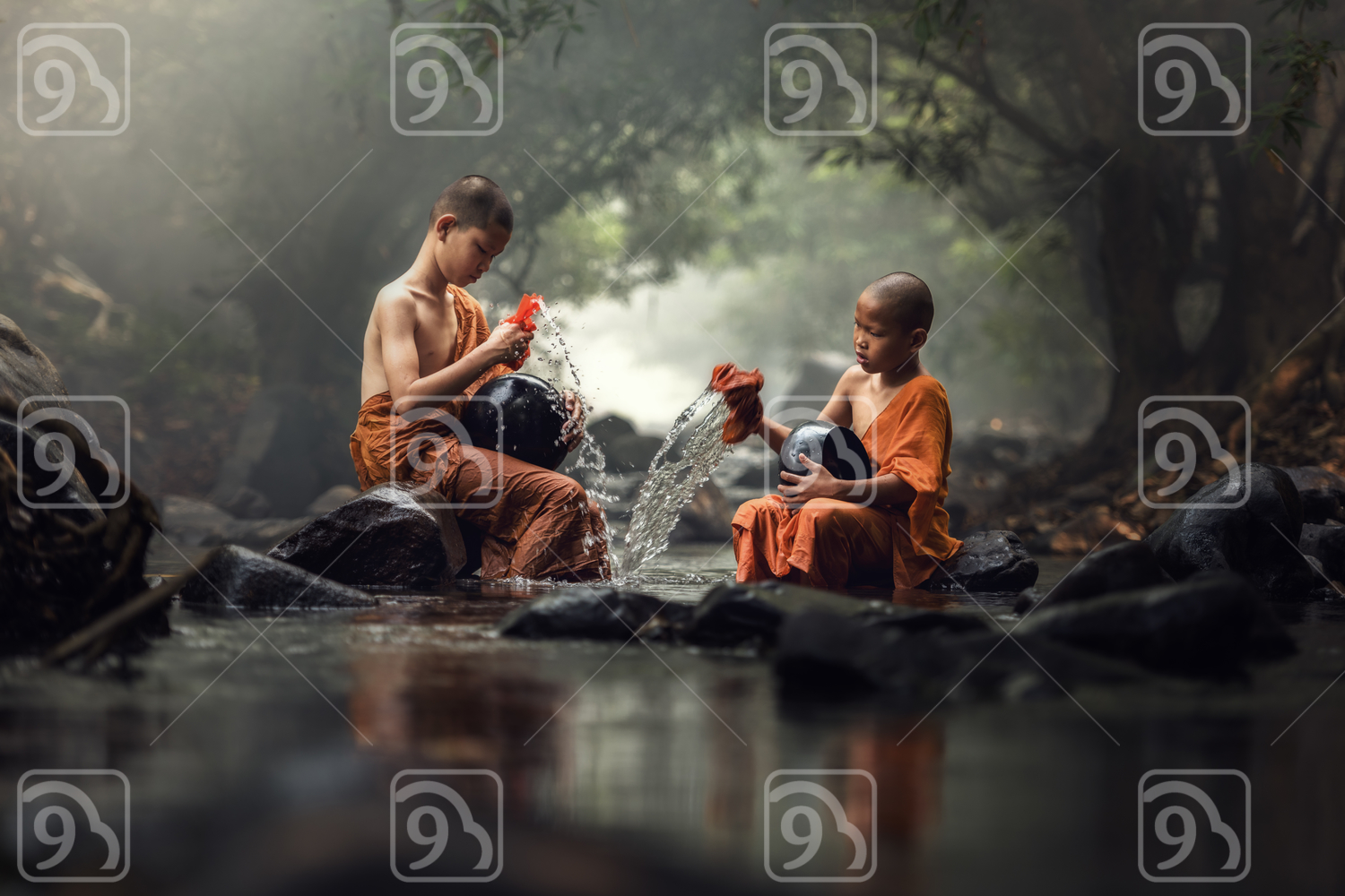 Novice Monks in Thailand