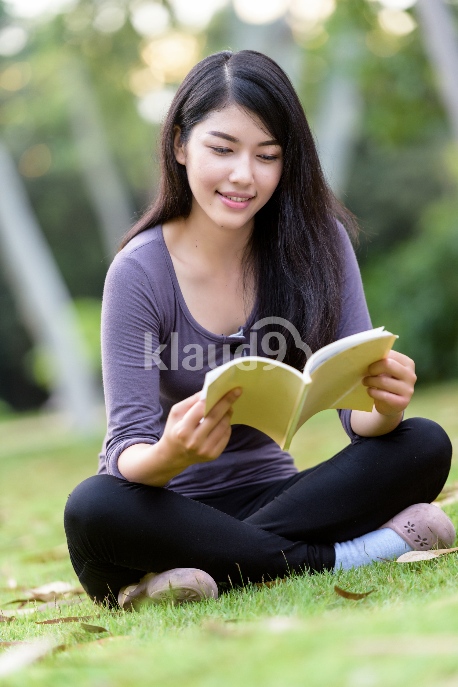 Asian woman college student