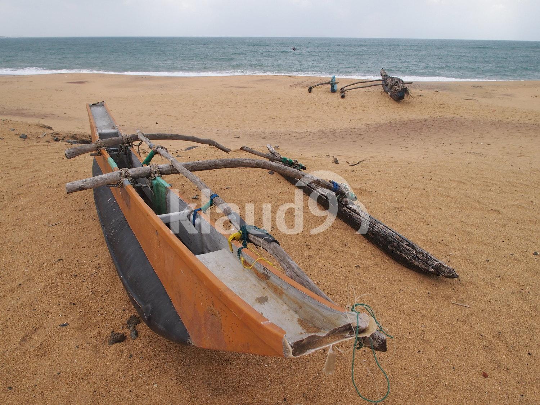 Seaside fishing boat