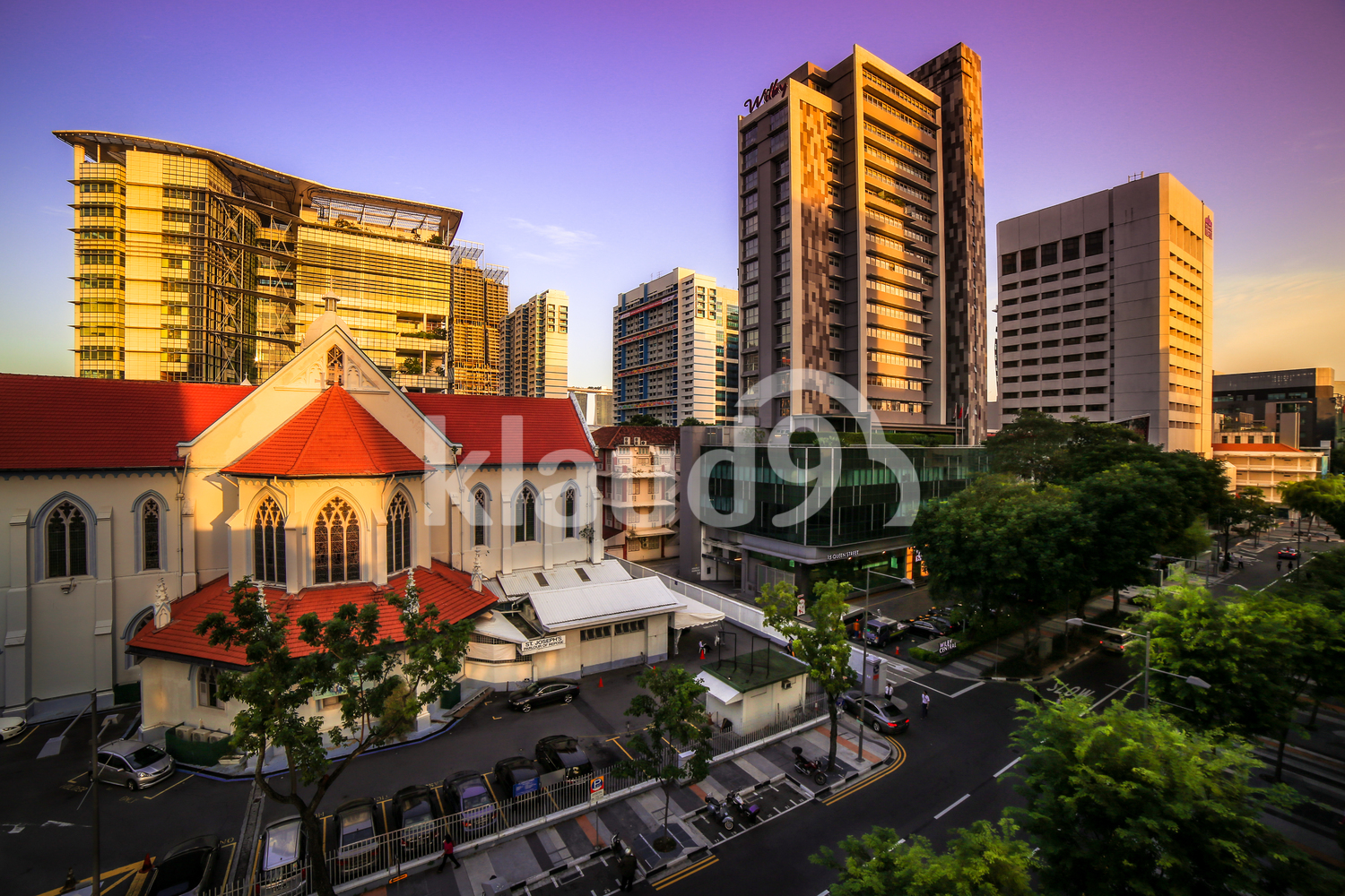 Waterloo Street buildings in Singapore