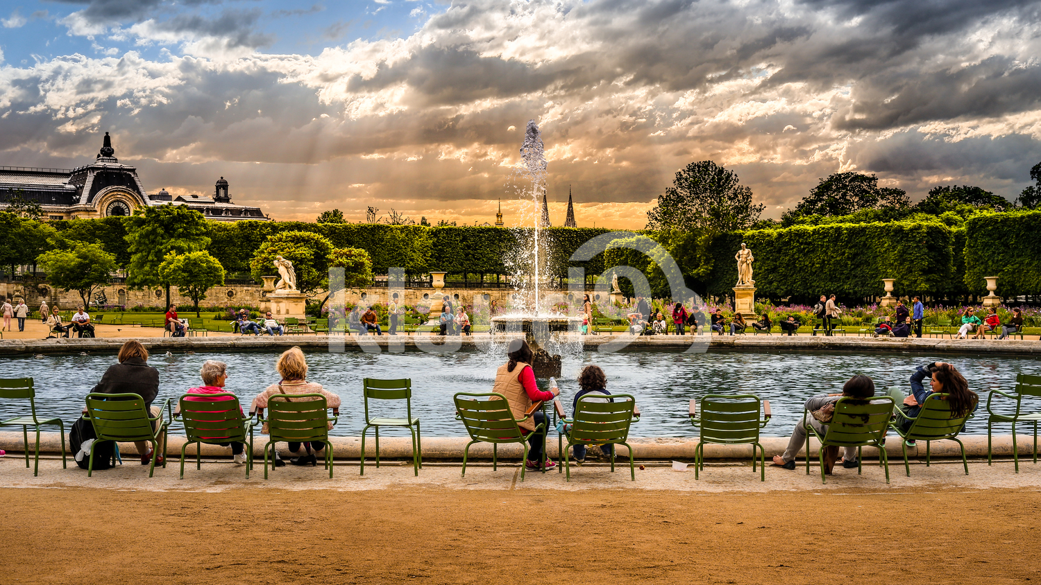 Fountain in Tuileries Garden