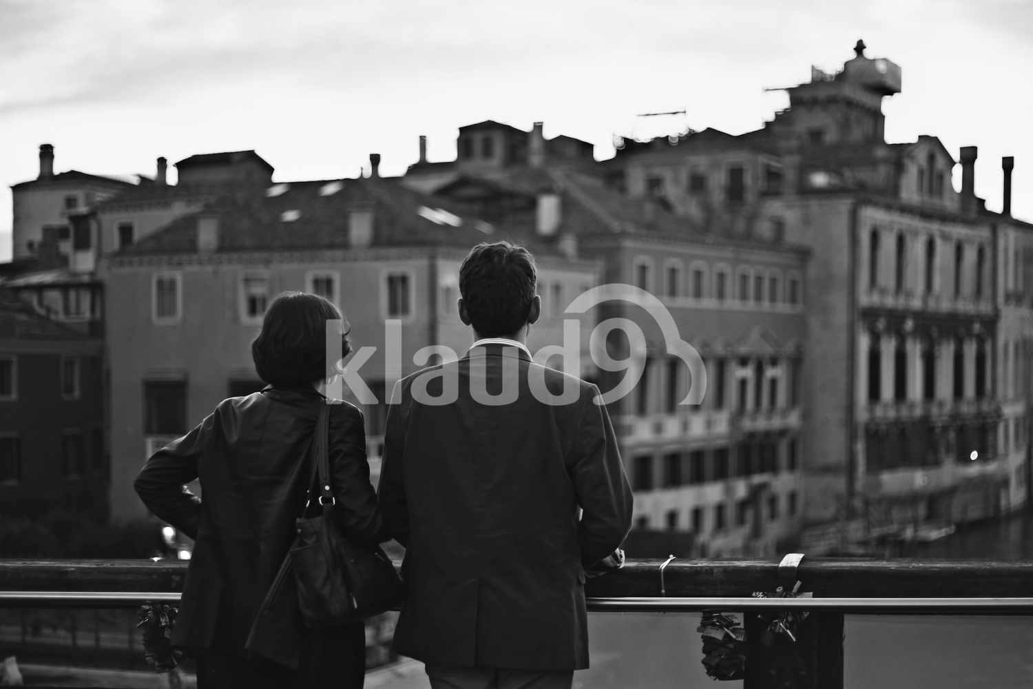 Couple enjoying the view in Venice, Italy