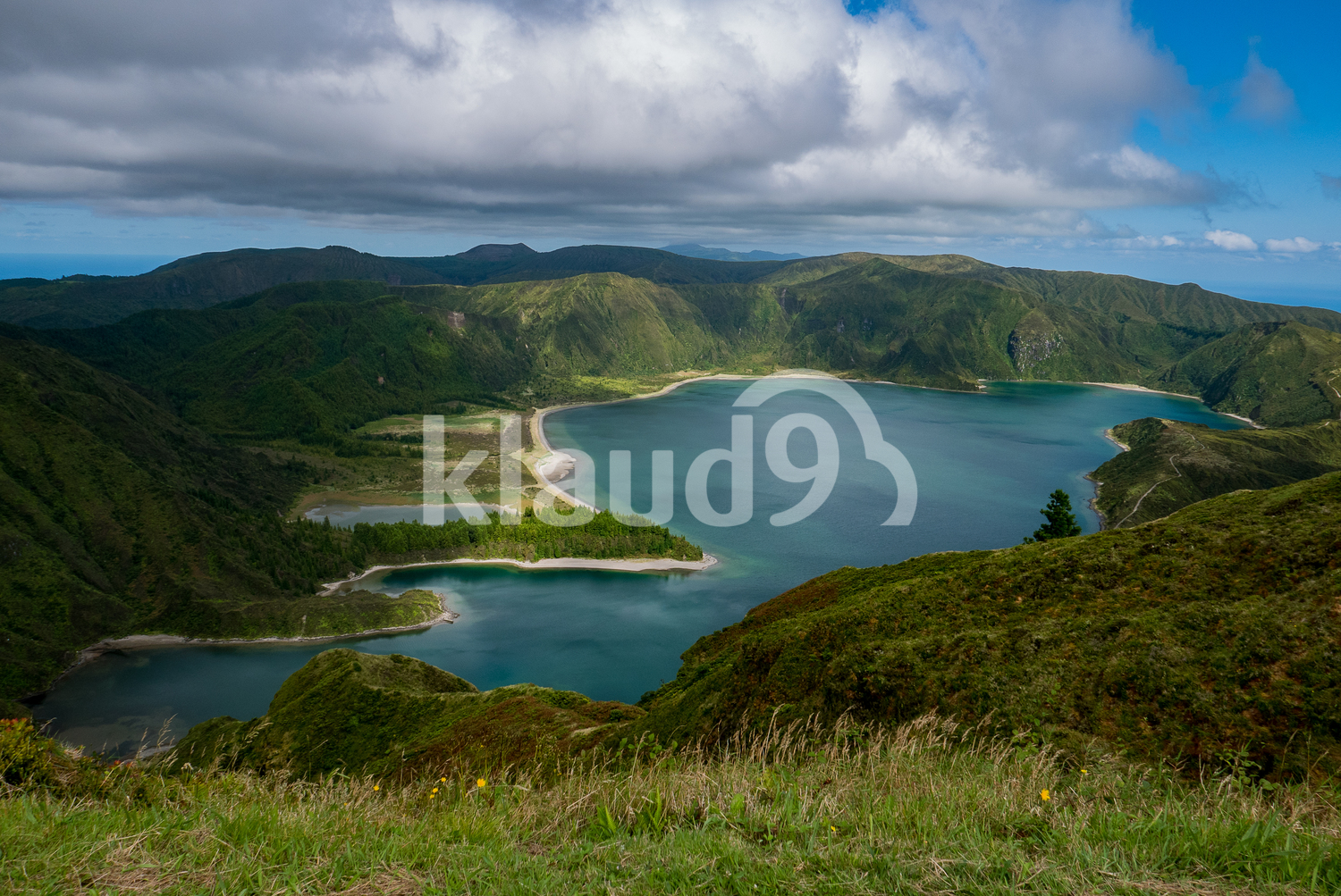 Lake of fire in azores