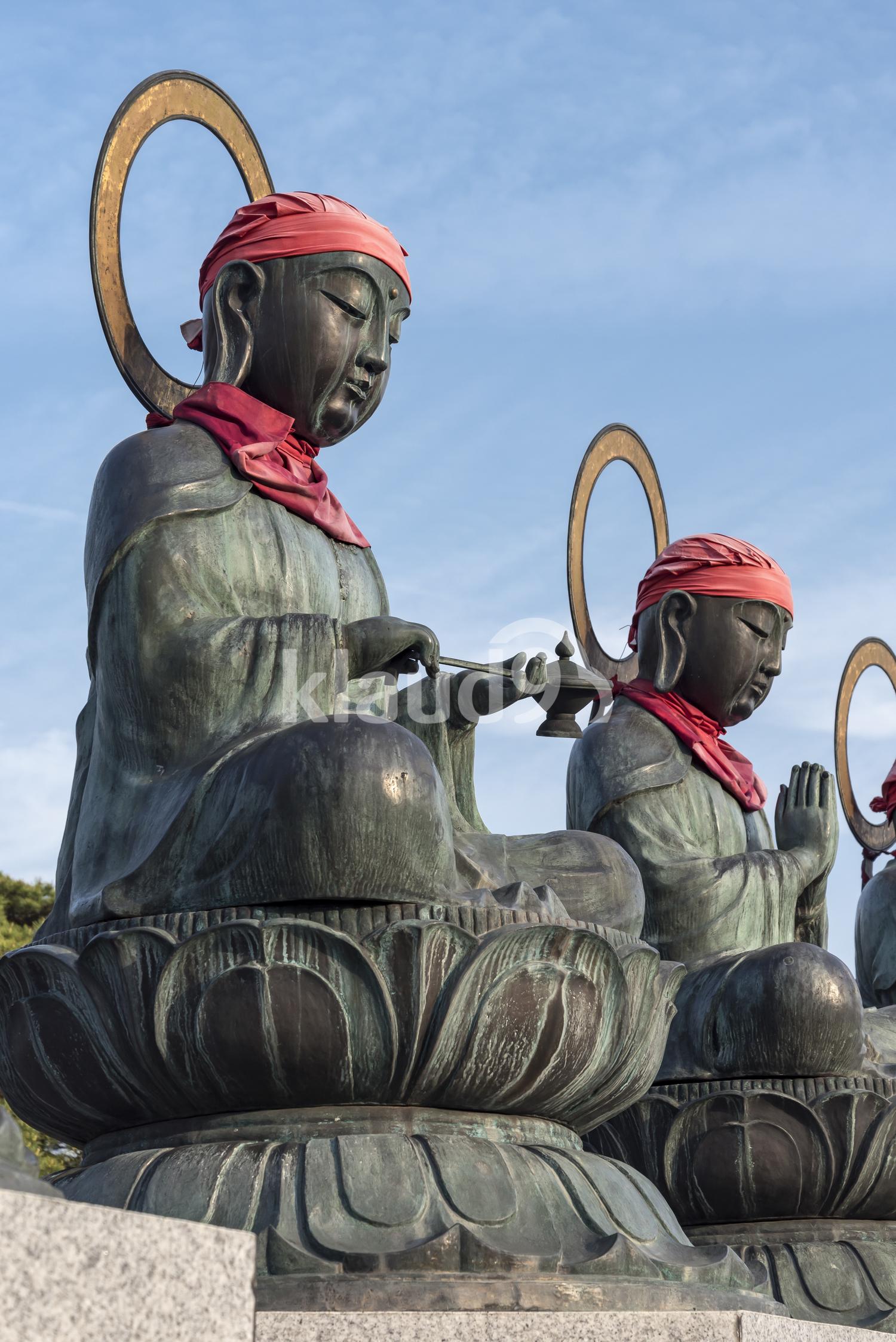 Roku jizo Statues, Zenko-ji, Nagano