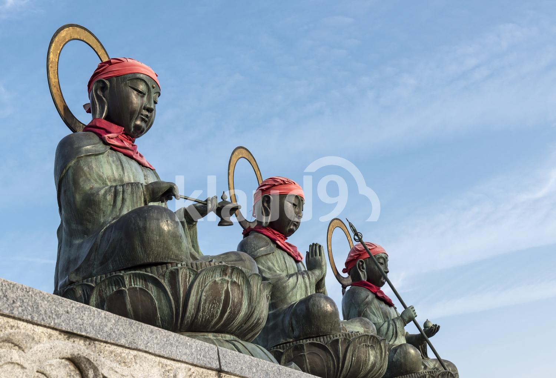 Three Roku jizo Statues, Zenko-ji, Nagano
