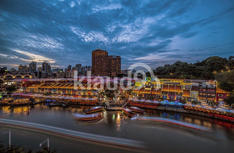 Clarke Quay during Blue Hour