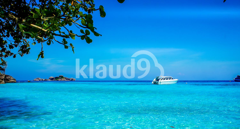 Beautiful crystal clear blue sea