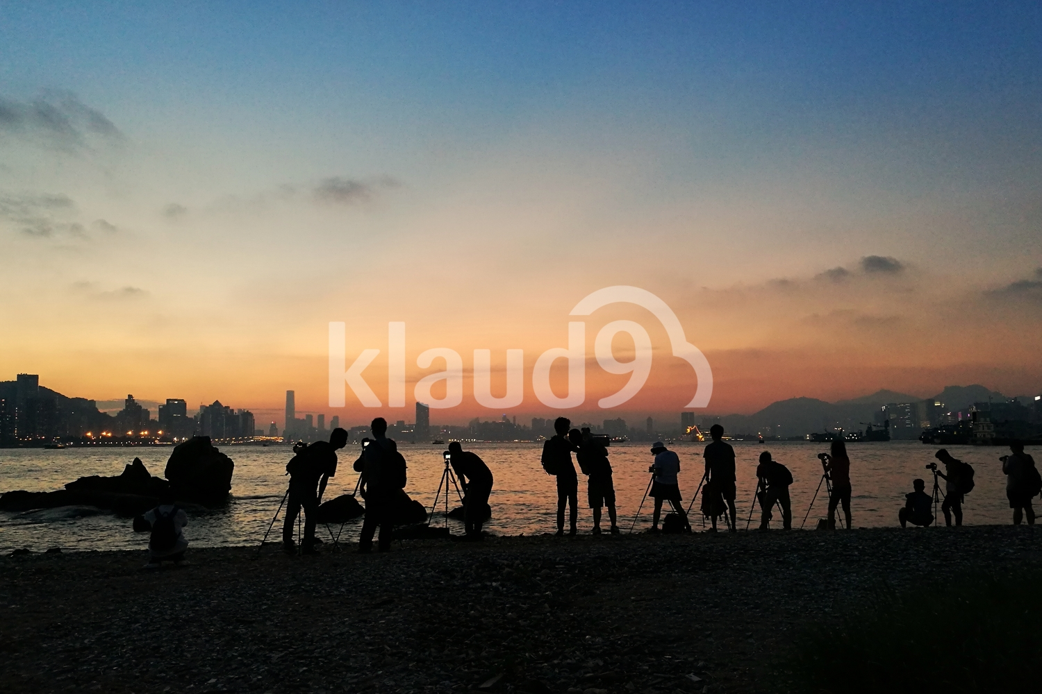 Group of photographers at Sunset