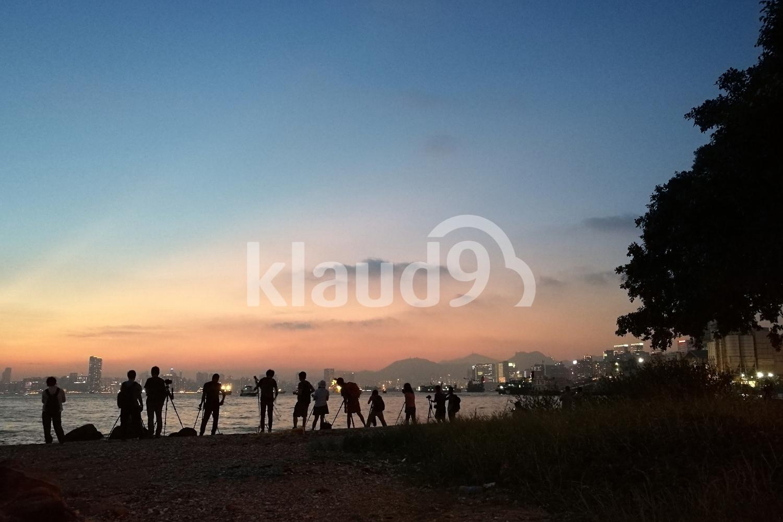 Group photo sunset