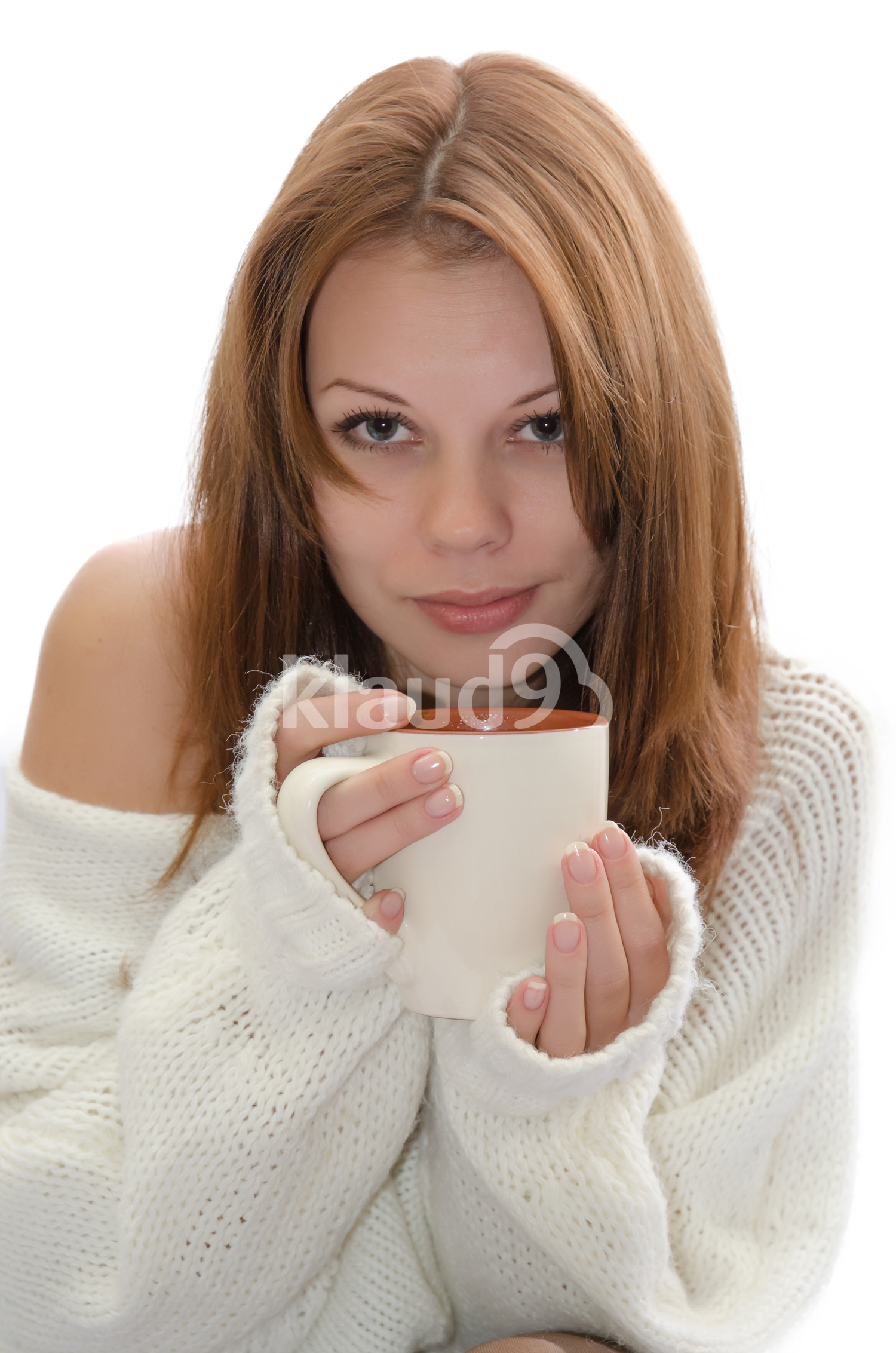 Woman with a cup.
