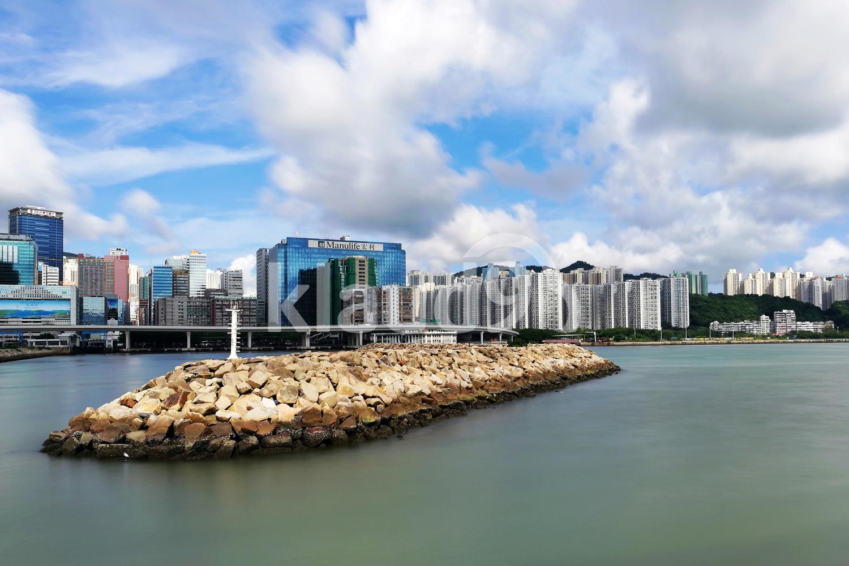 city landscape at seaside