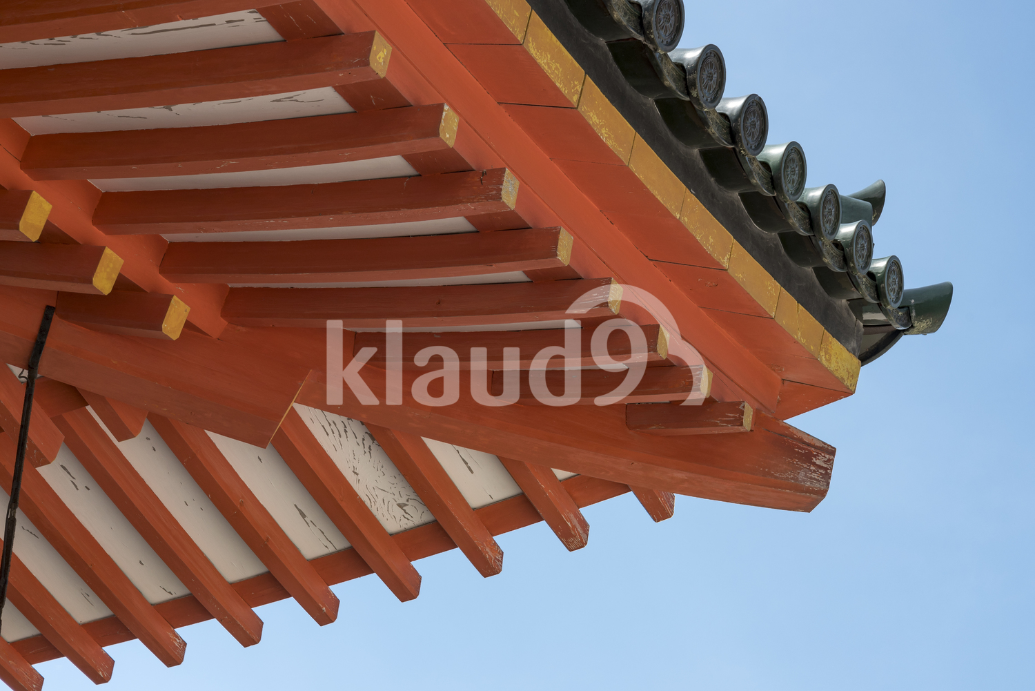 Heian Shrine, Kyoto, Roof Details. Japan