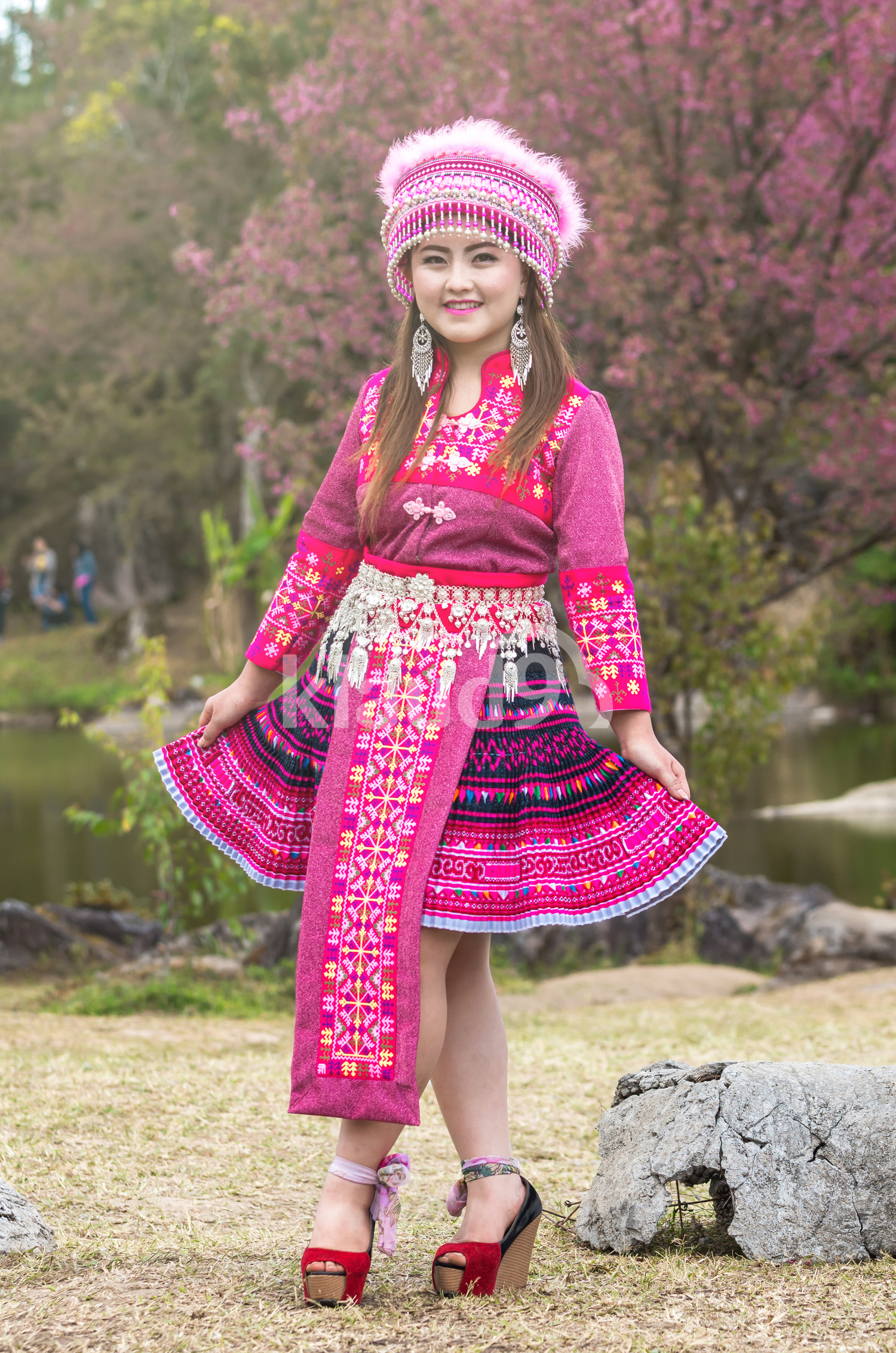 Happy Hmong lady