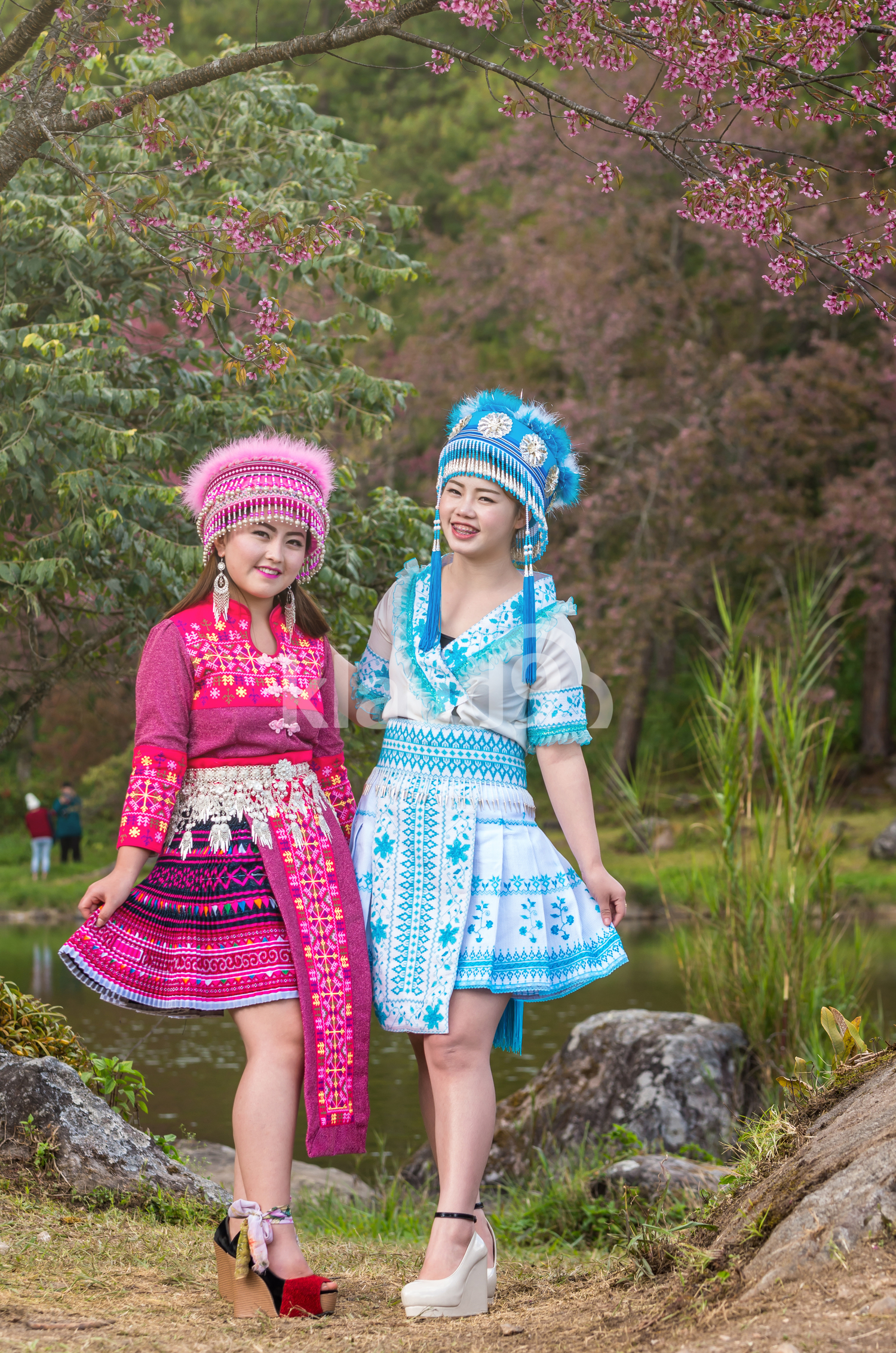 Portrait of Two Hmong Ladies