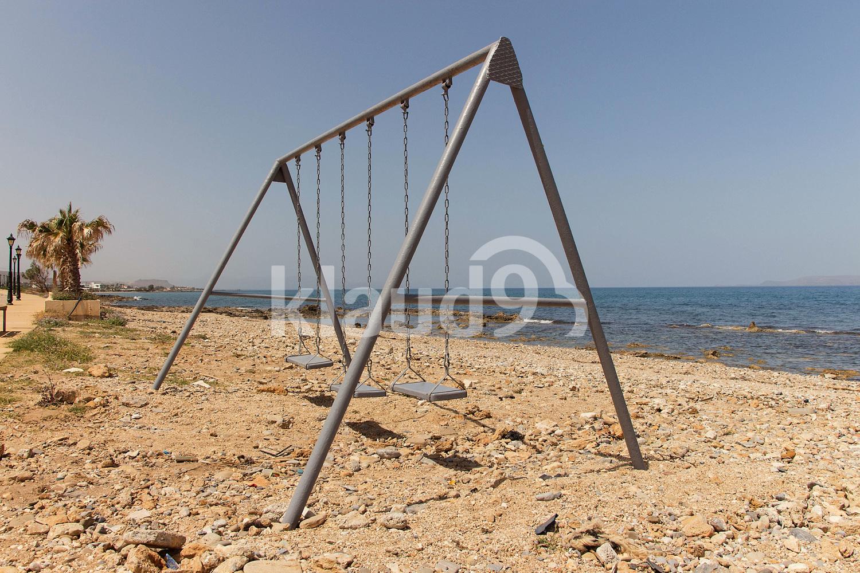 Swing on the Mediterranean coast