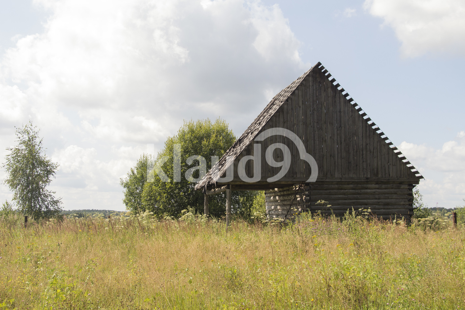 Old small abandoned country house in Russia
