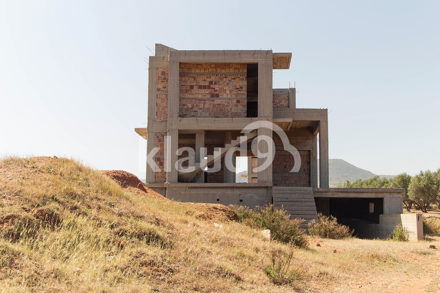 unfinished construction of a residential house