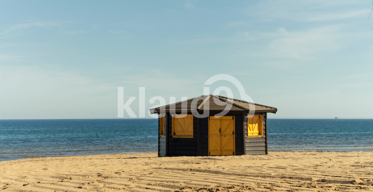 Wooden structure on the beach