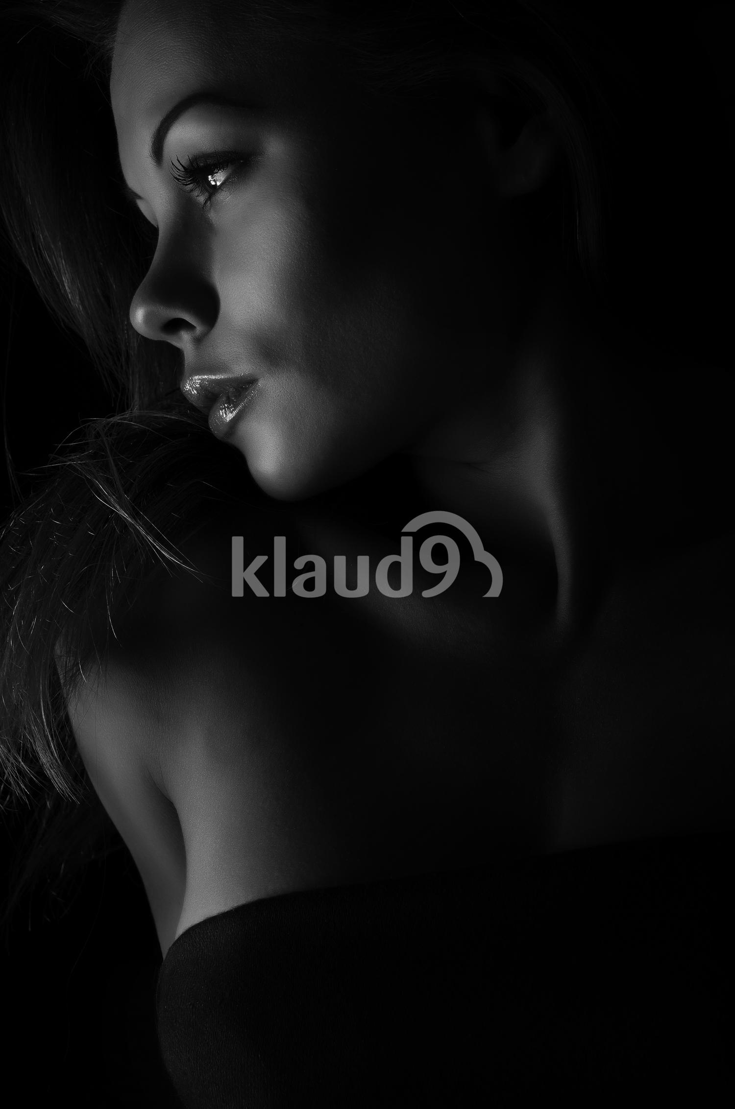 Beautiful lady in the dark