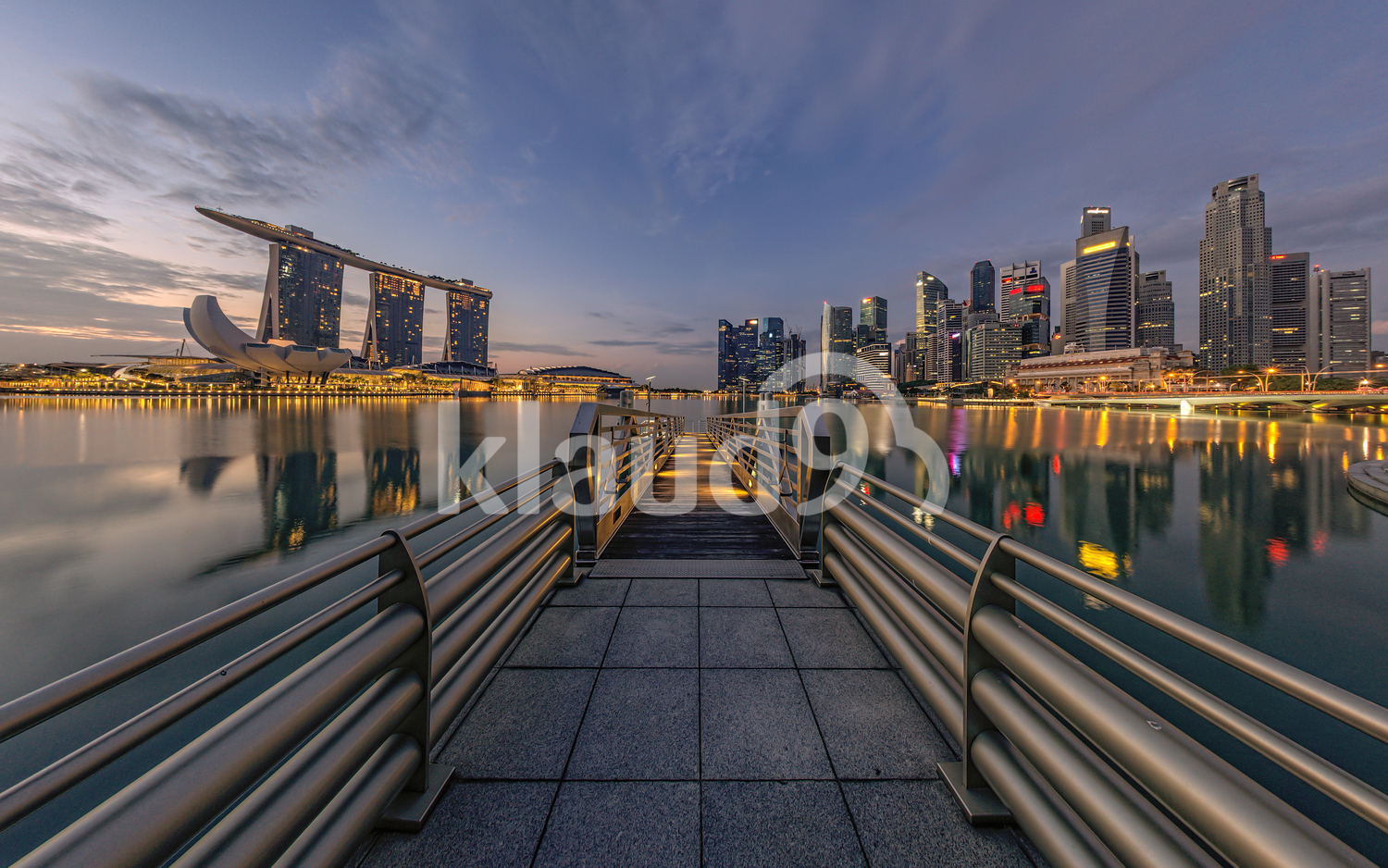 Shenton Way & MBS at Blue Hour