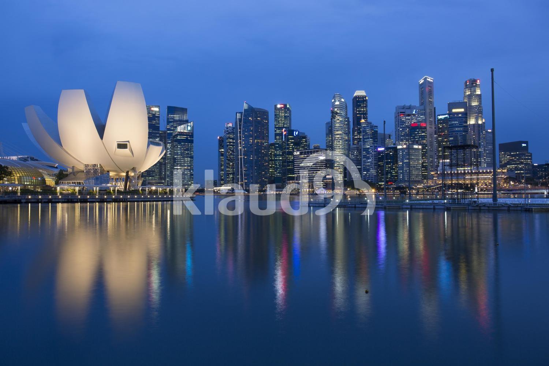 Blue hour at Marina Bay, Singapore