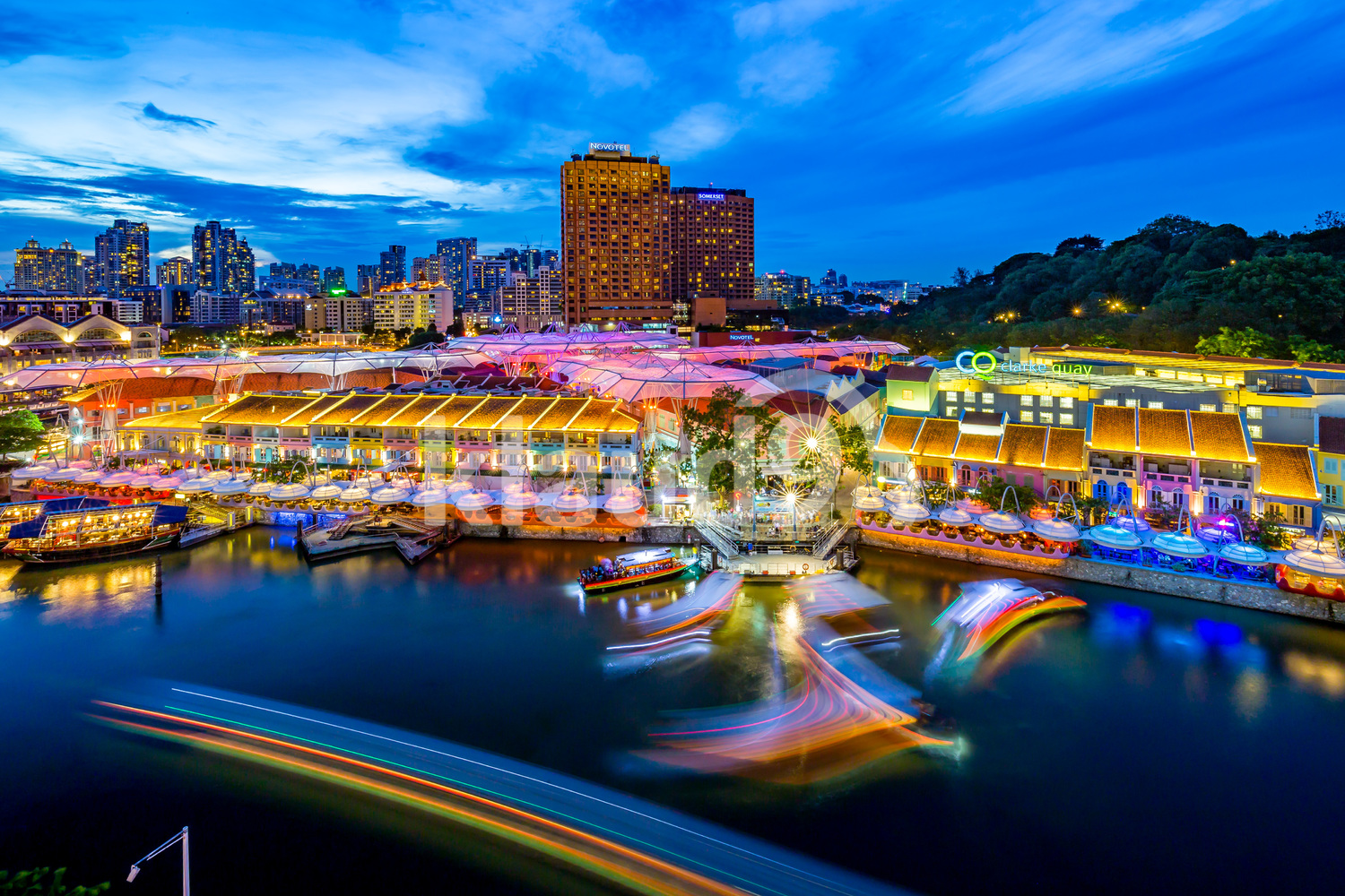 Colourful Clarke Quay