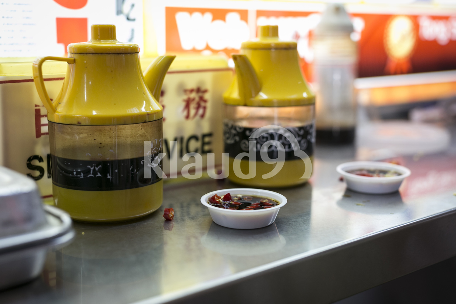 Close up of Chinese spices at hawker centre