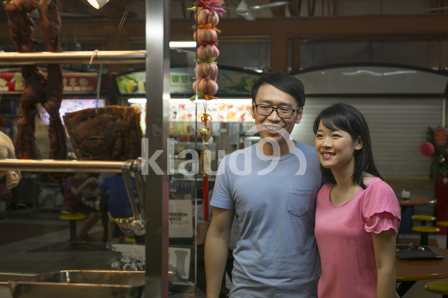 Happy couple at Hawker Center