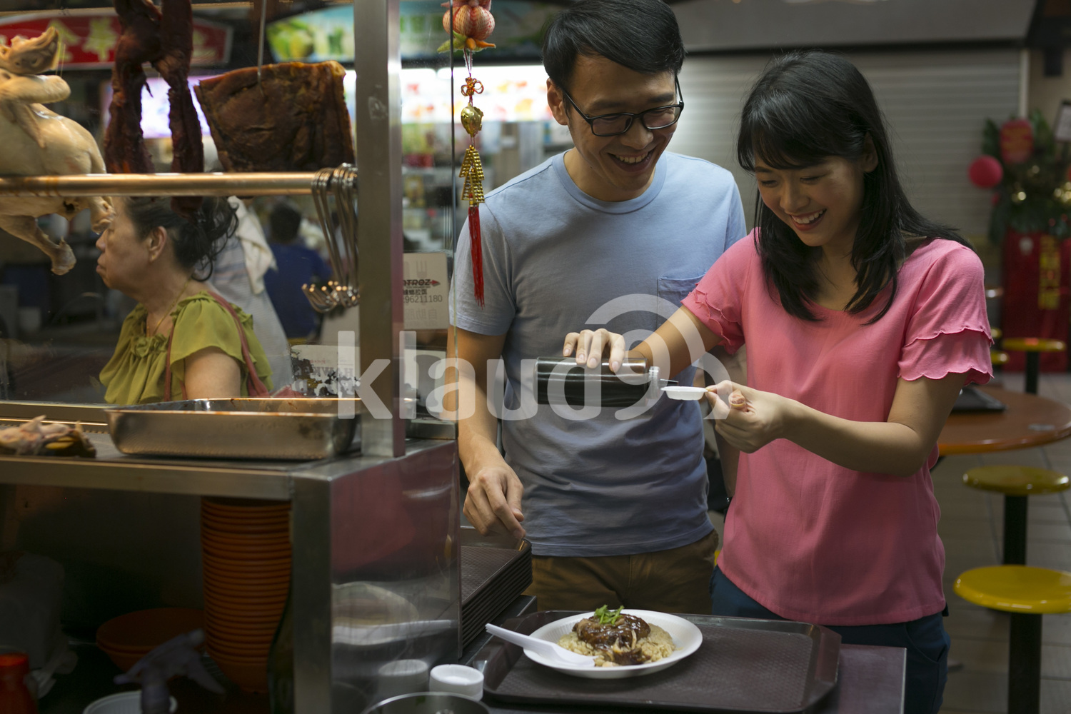 Couple at Hawker Center