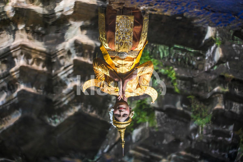 Reflections at Angkor Wat, Siem Reap, Cambodia
