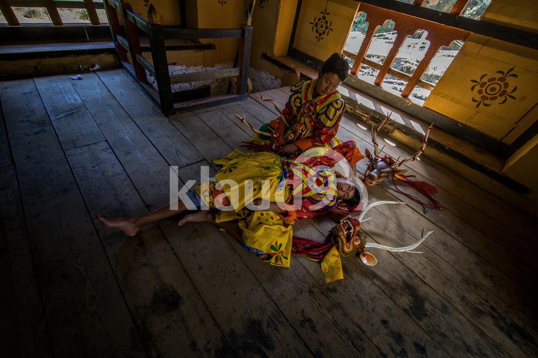 Masked dancers of Bhutan