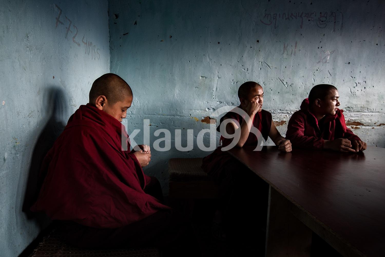 Monks; Bhutan