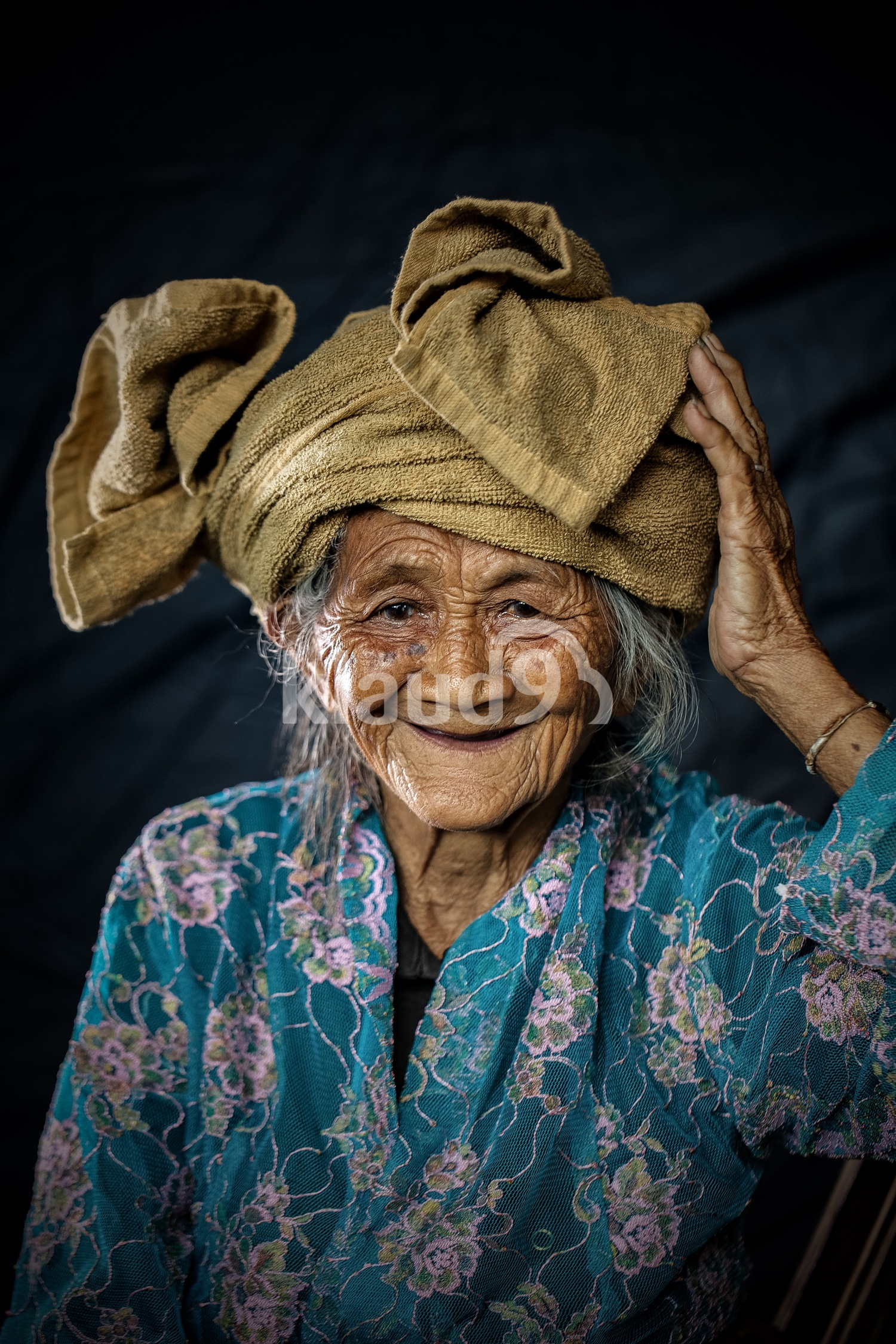 An old villager smiles; Bali, Indonesia