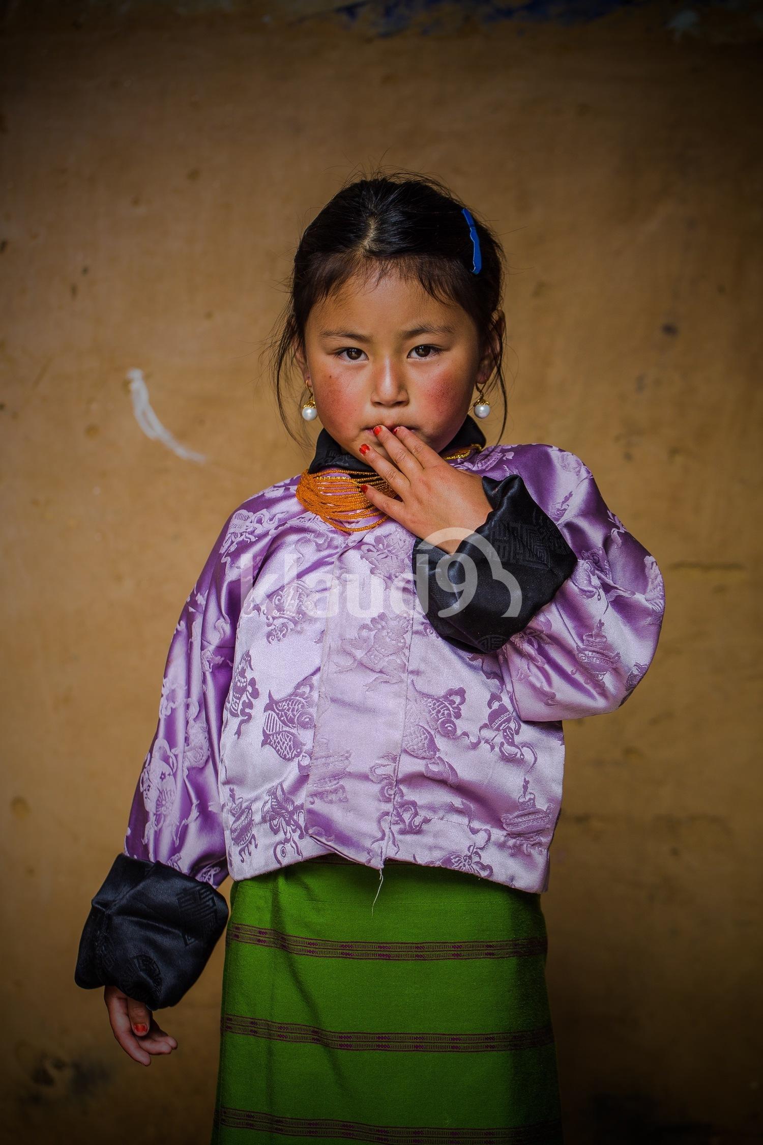 A child in Bhutan
