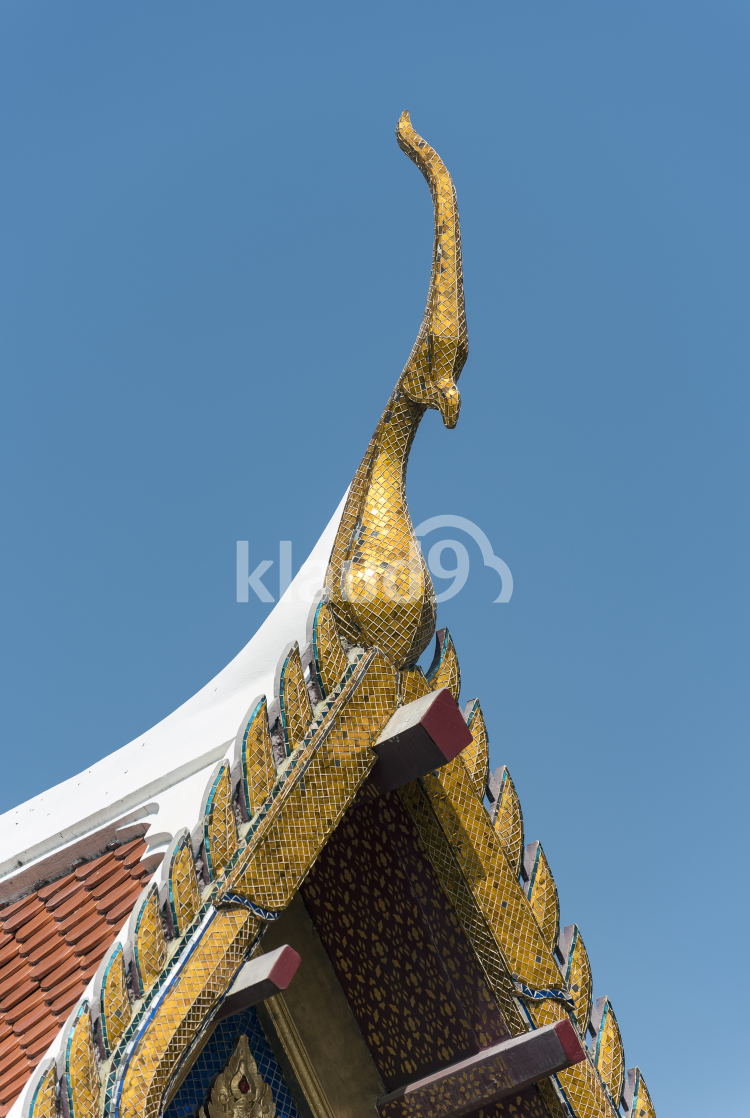Roof of Temple of Emerald Buddha, Bangkok