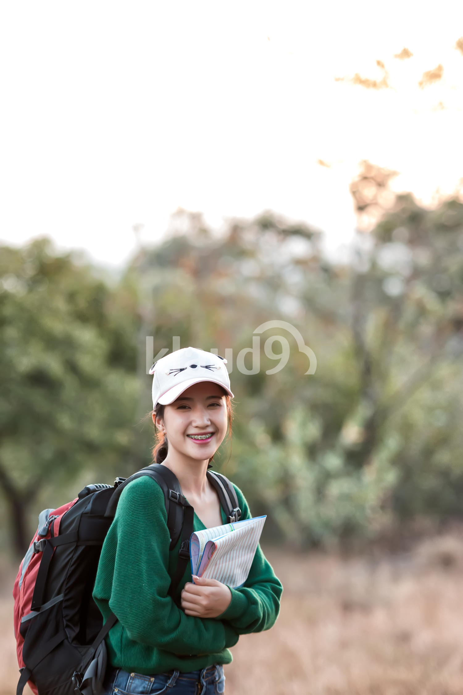 Portrait of a young Thai backpacker