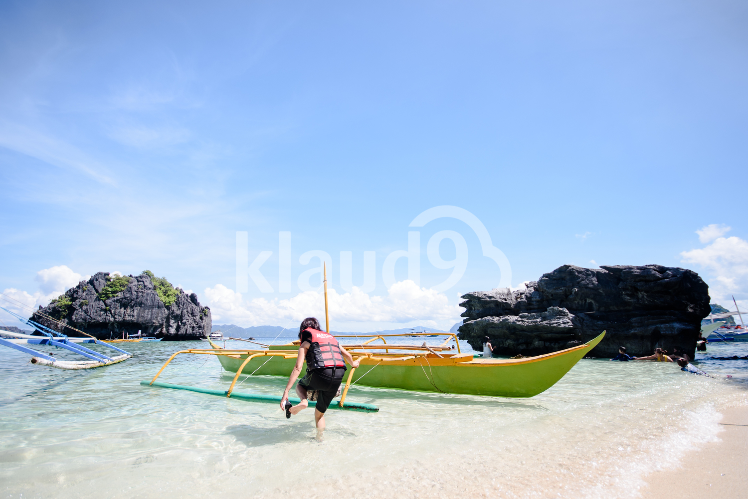 Paradise island and crystal clear water of El Nido, Palawan, Philippines