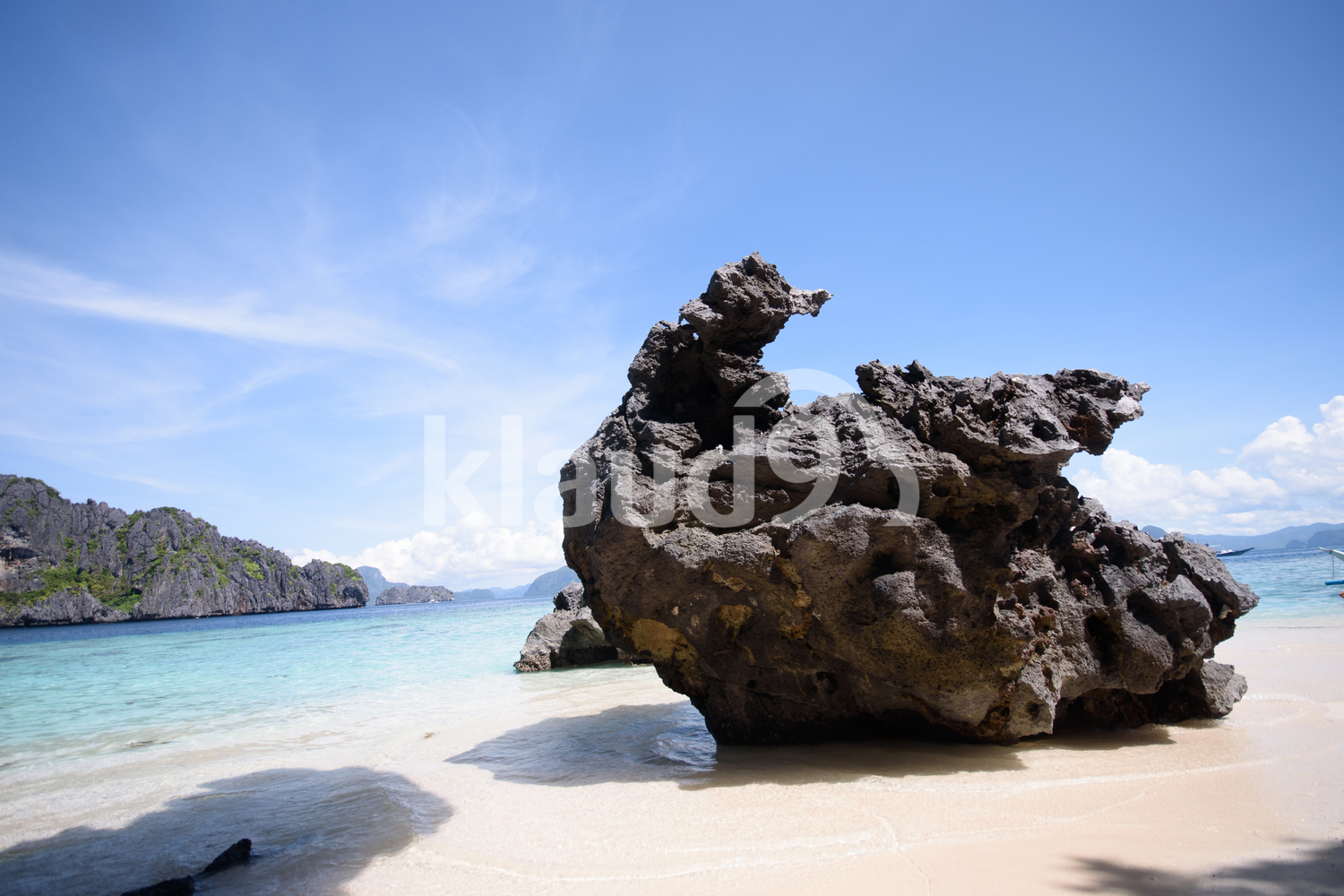 Huge rock on El Nido, Palawan, Philippines