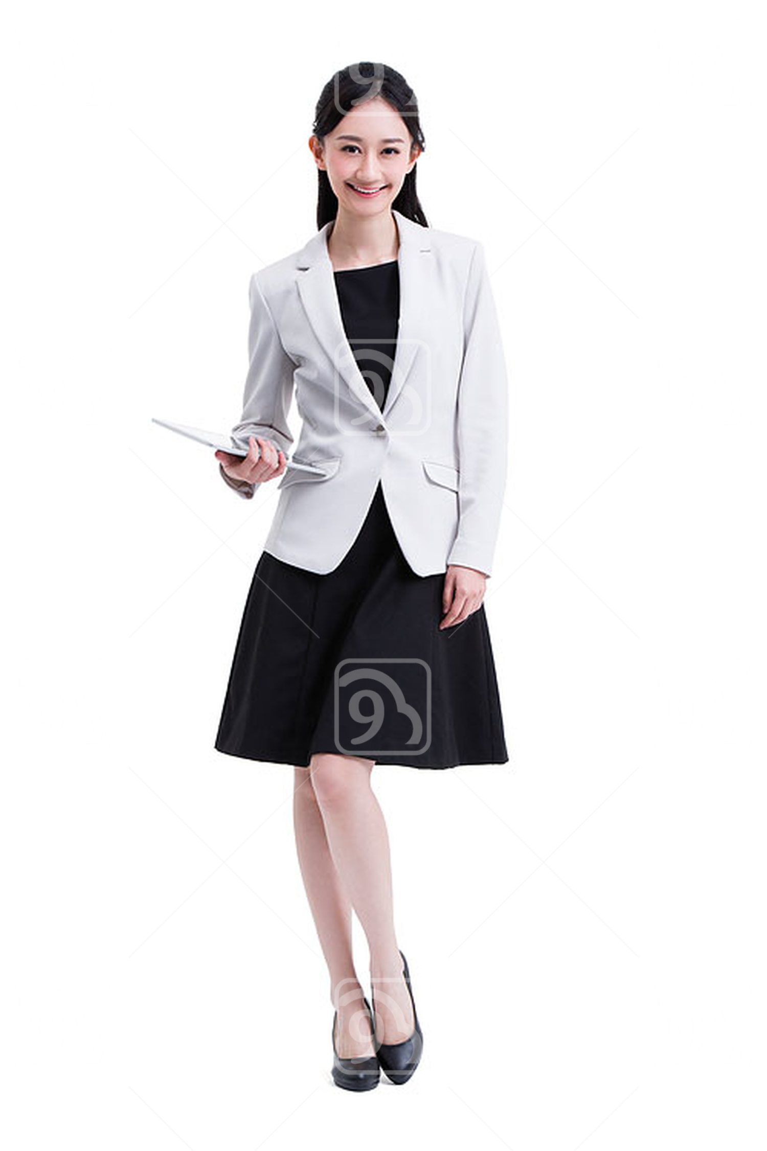 Young Chinese businesswoman with digital tablet