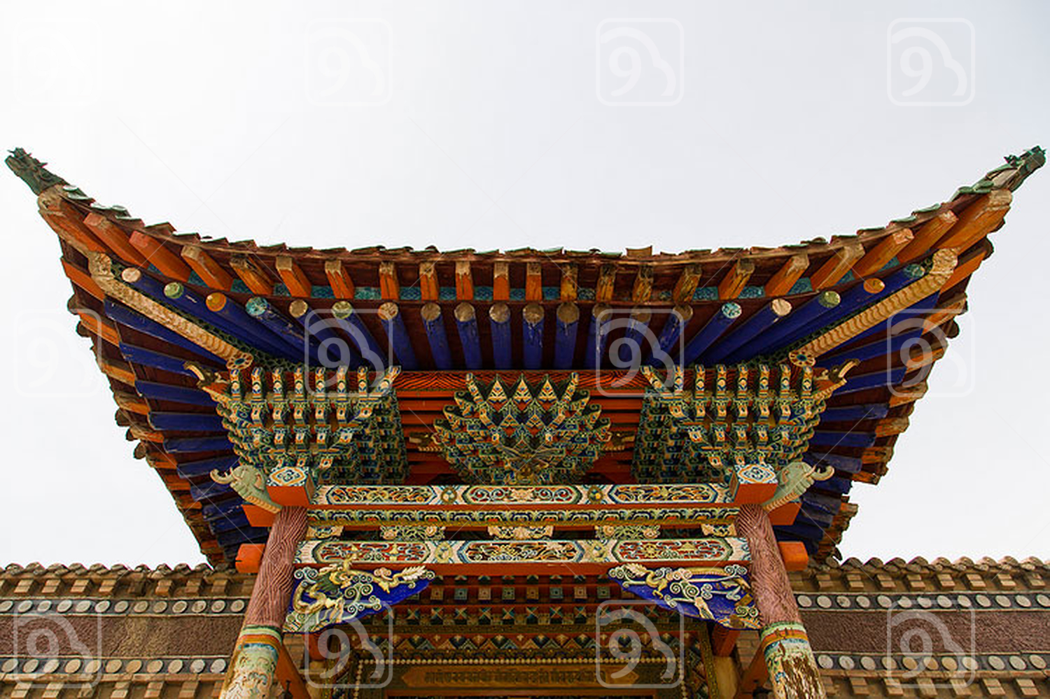 A Rou Big Temple in Qinghai province, China