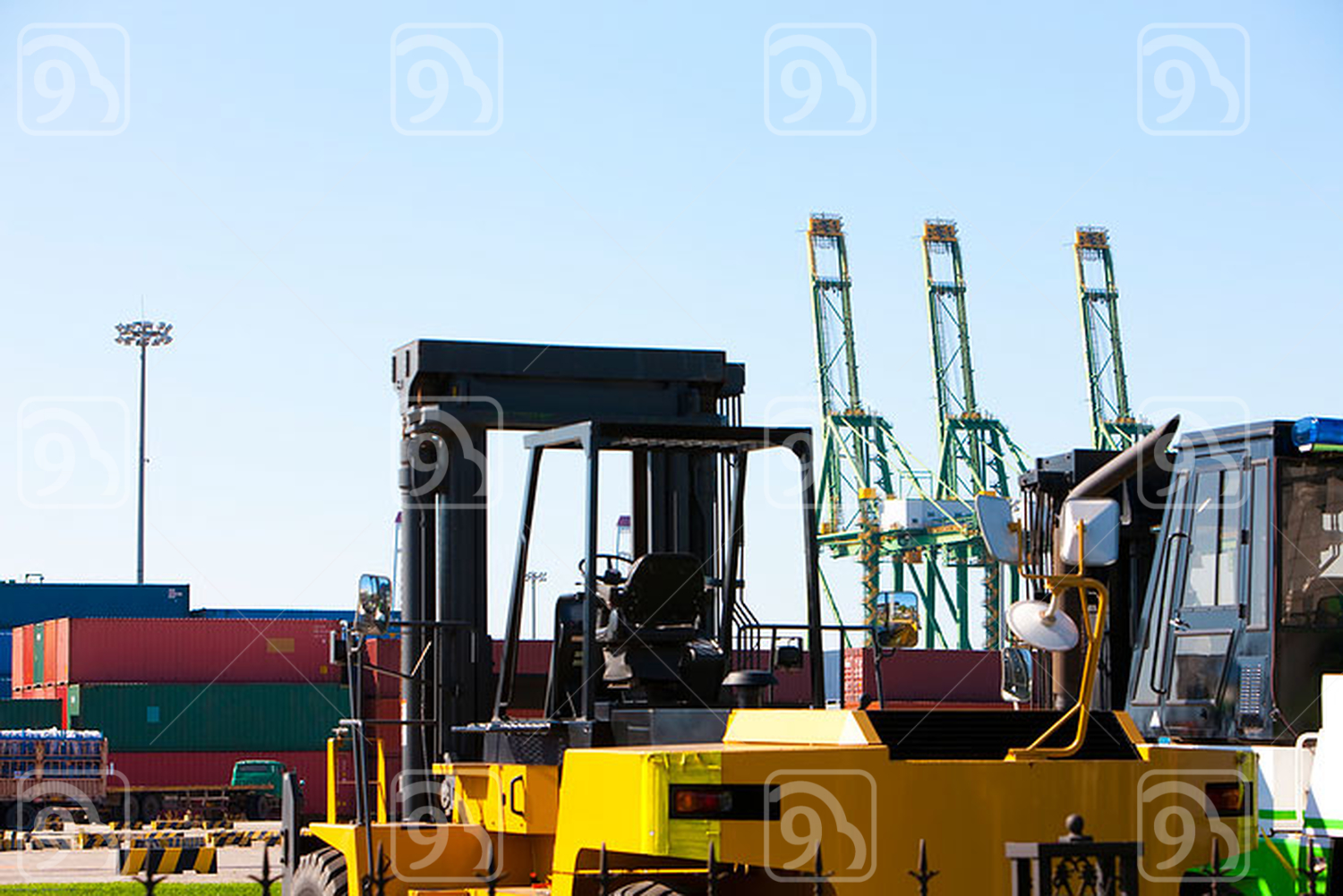 Trucks and cargo containers