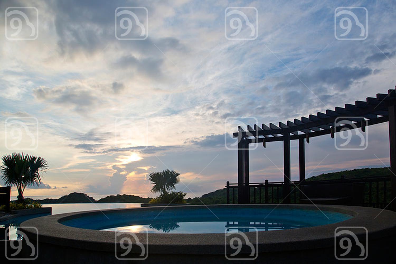 Villa in twilight