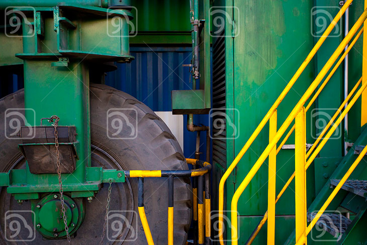 Machinery at a shipping port