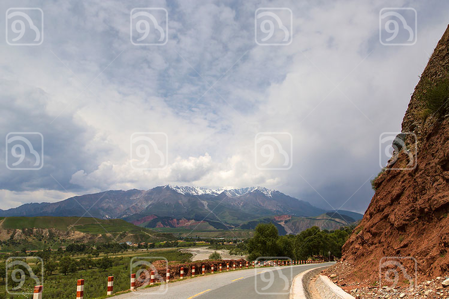 Road in Qinghai province, China