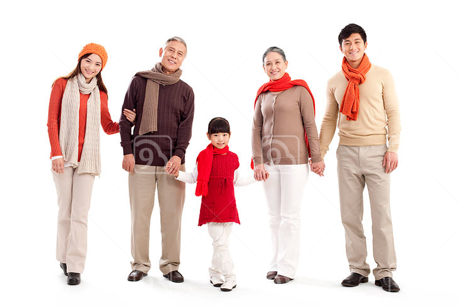 Portrait of a multi-generation Chinese family