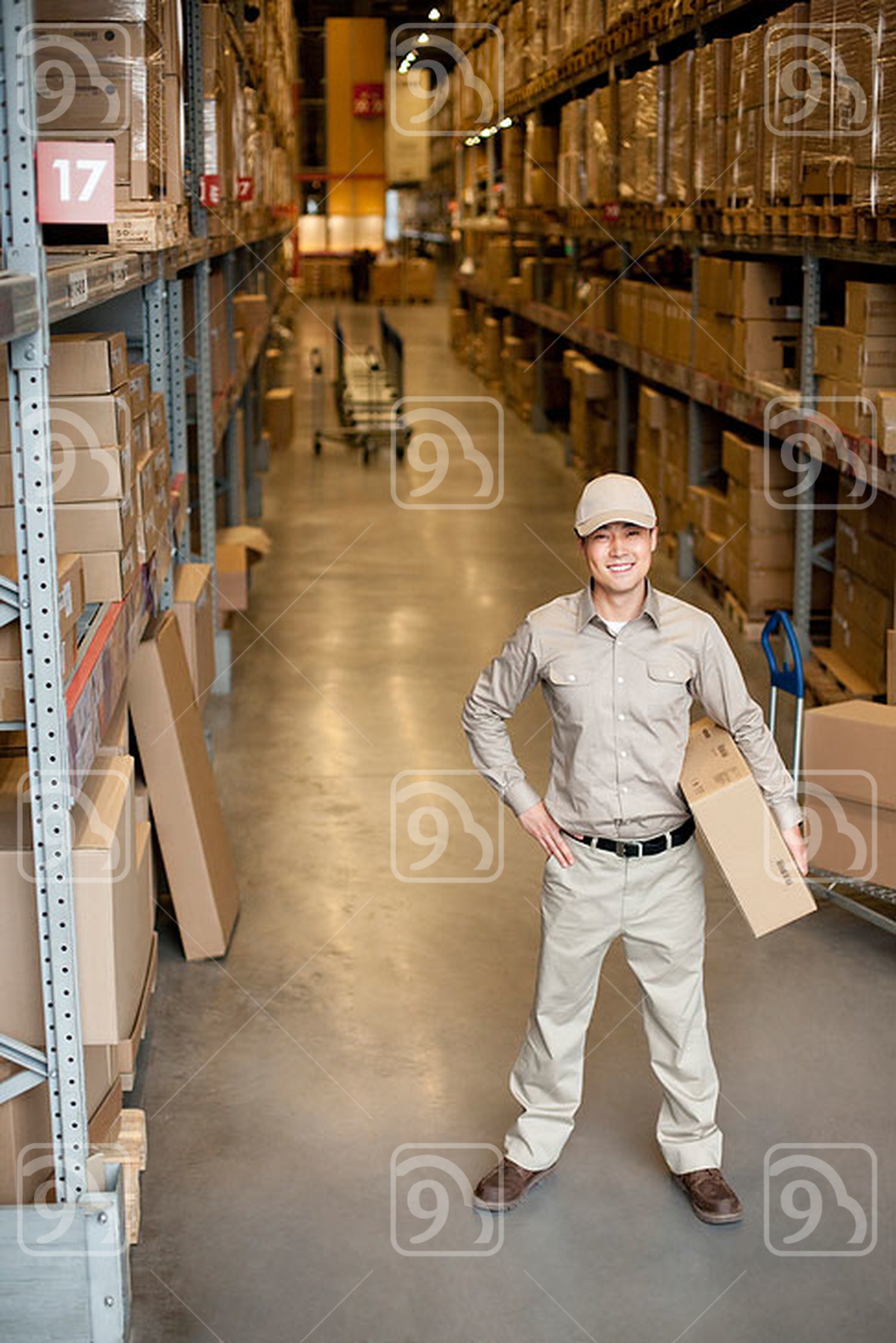 Male Chinese warehouse worker